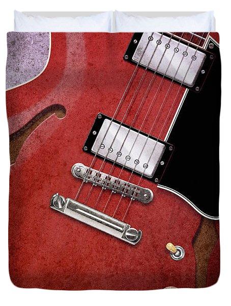 Red Es-335 Duvet Cover