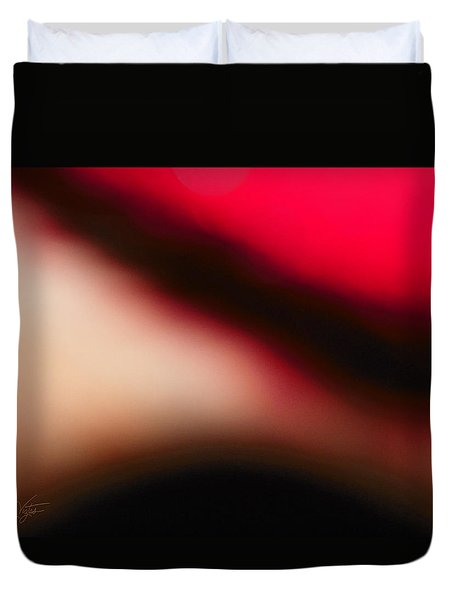 Red Explorer Abstract Duvet Cover