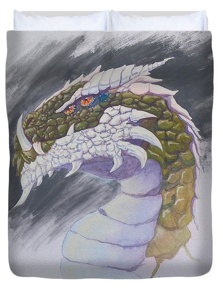 Red Eye Dragon Duvet Cover