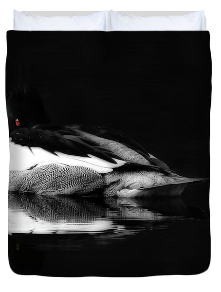 Red Eye Duvet Cover by Lori Deiter