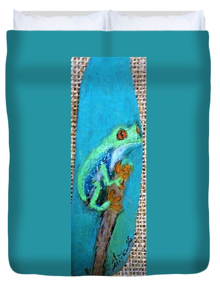 Red-eyed Tree Frog Duvet Cover