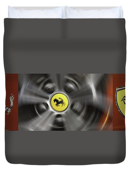 Red Ferrari Duvet Cover by Don Mennig
