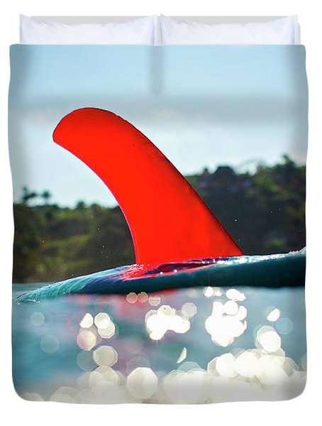 Red Fin Duvet Cover