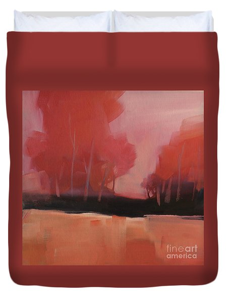 Red Flair Duvet Cover