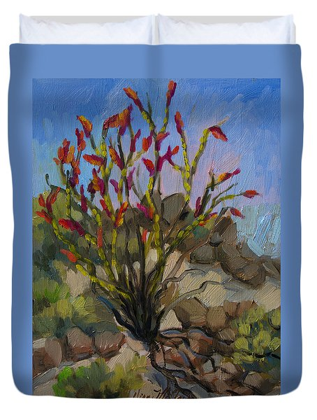 Red Flame Ocotillo 5 Duvet Cover