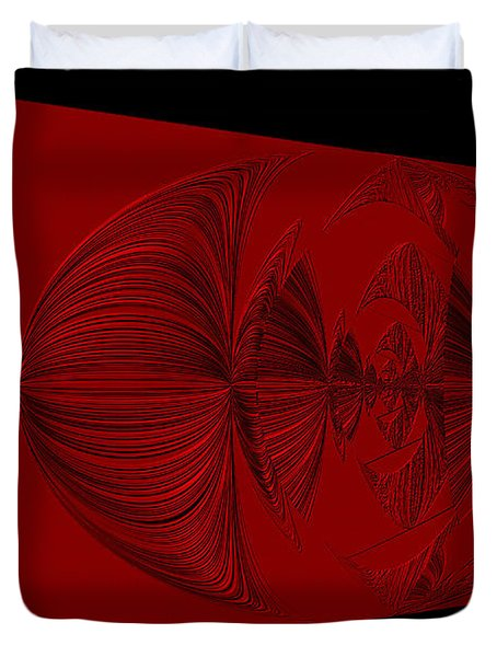 Red And Black Design. Art Duvet Cover