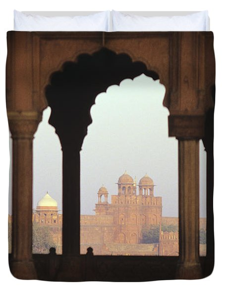 Red Fort From The Jama Masjid Duvet Cover