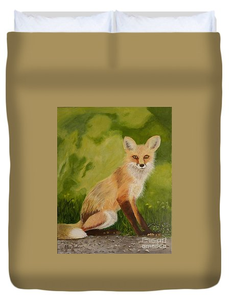 Red Fox 1 Duvet Cover