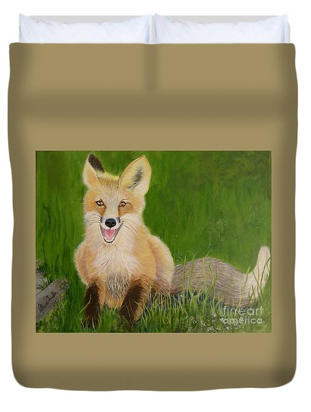 Red Fox 2 Duvet Cover