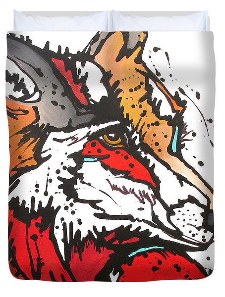Red Fox Duvet Cover by Nicole Gaitan