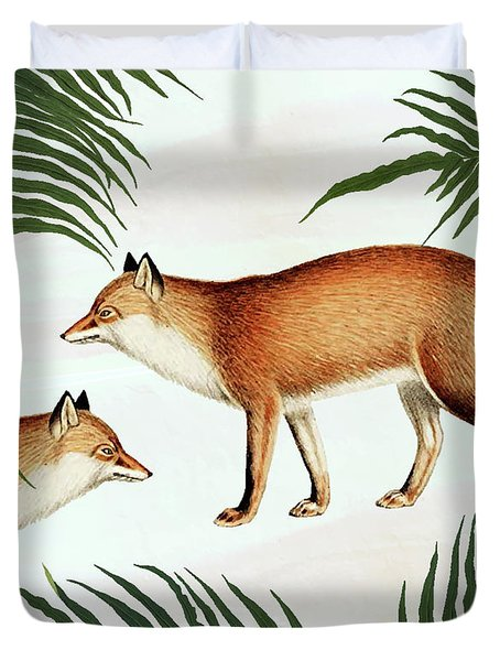 Red Fox Pair Duvet Cover