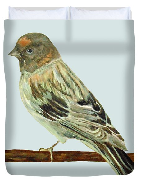 Red-fronted Serin Duvet Cover