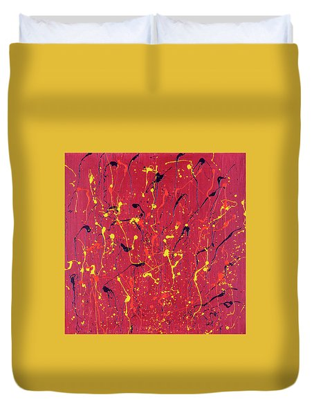 Red Fusion  Duvet Cover