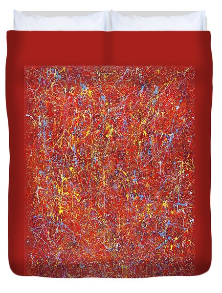Red Galaxy-2 Duvet Cover