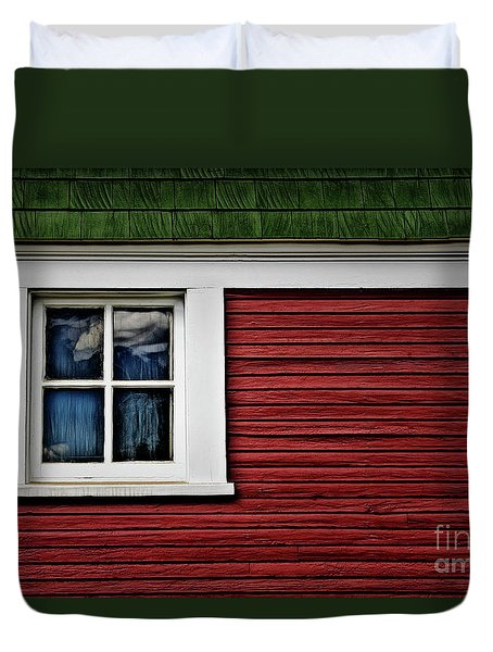 Duvet Cover featuring the photograph Red Green by Brad Allen Fine Art