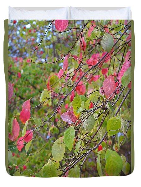 Red Green October Duvet Cover