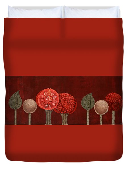 Red Grove Duvet Cover