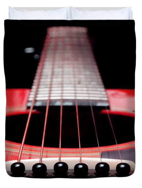 Red Guitar 16 Duvet Cover