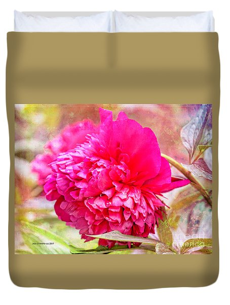 Red Haired Lady Duvet Cover
