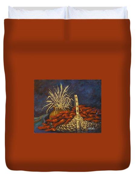 Red Harvest Duvet Cover