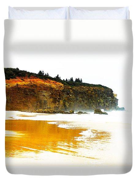 Red Head Beach Duvet Cover by Susan Vineyard