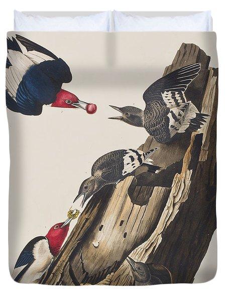 Red Headed Woodpecker Duvet Cover