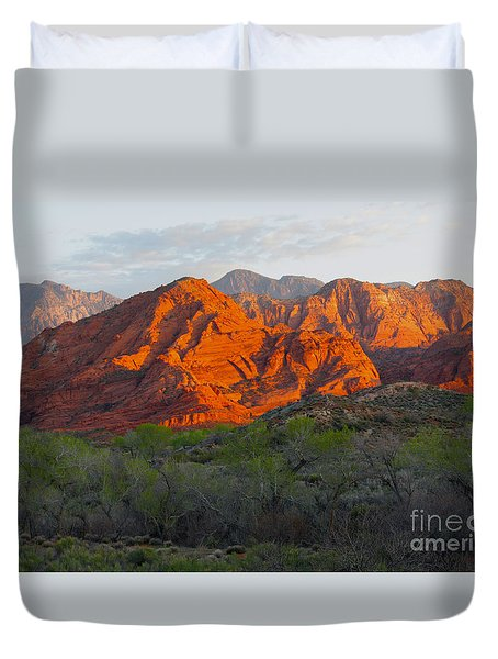 Red Hills Duvet Cover