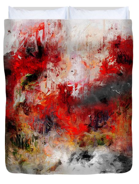 Duvet Cover featuring the photograph Red Hope  by Claire Bull