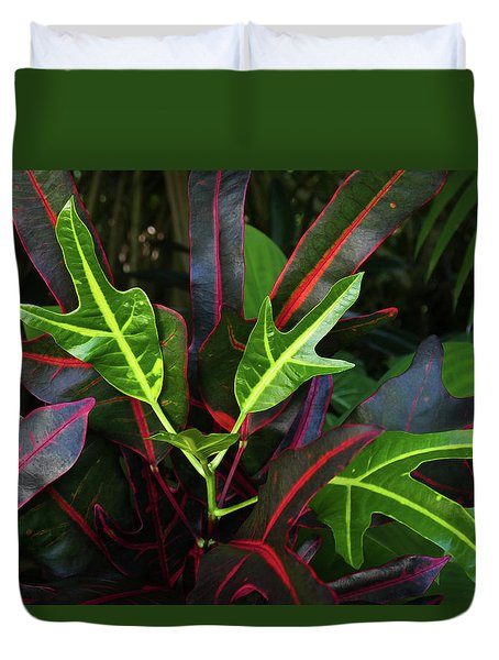 Red Hot And Green Duvet Cover