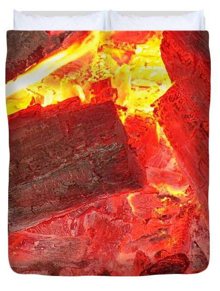 Duvet Cover featuring the photograph Red Hot by Betty Northcutt