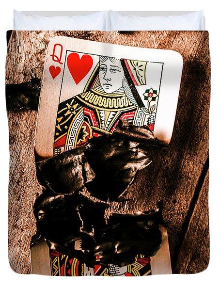 Red Hot Blackjack Duvet Cover