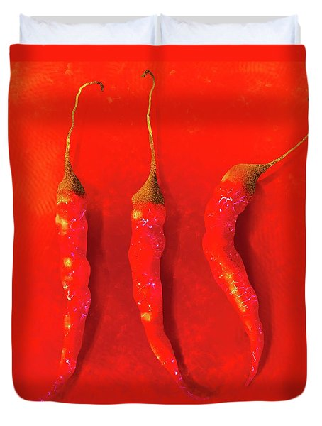 Red Hot Chili Pepper II Duvet Cover
