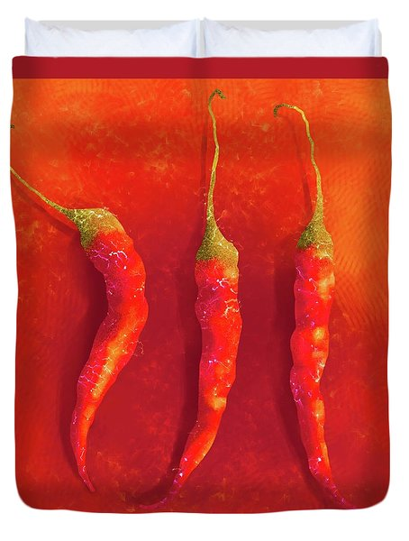 Hot Chili Peppers Duvet Cover