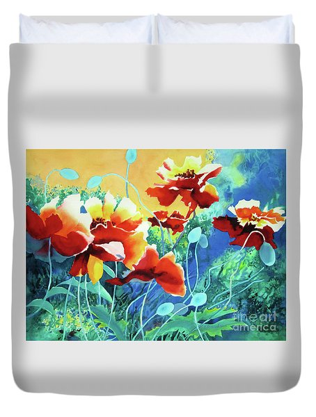 Red Hot Cool Blue Duvet Cover