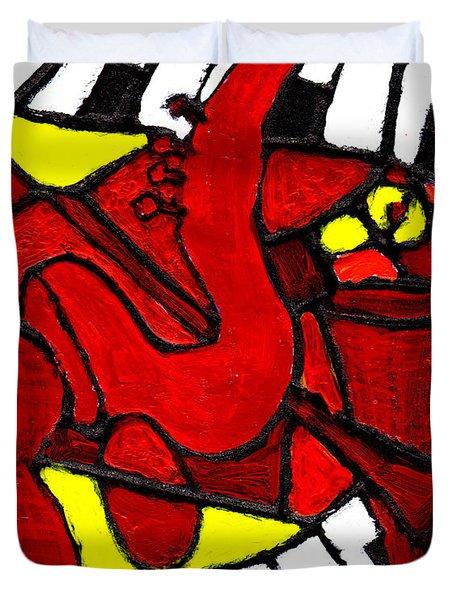 Red Hot Jazz Duvet Cover