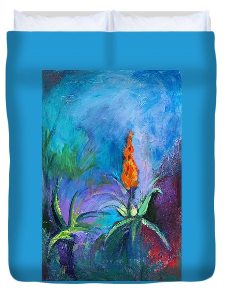 Red Hot Poker Duvet Cover