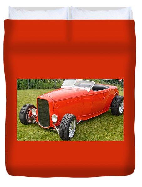 Red Hot Rod Duvet Cover