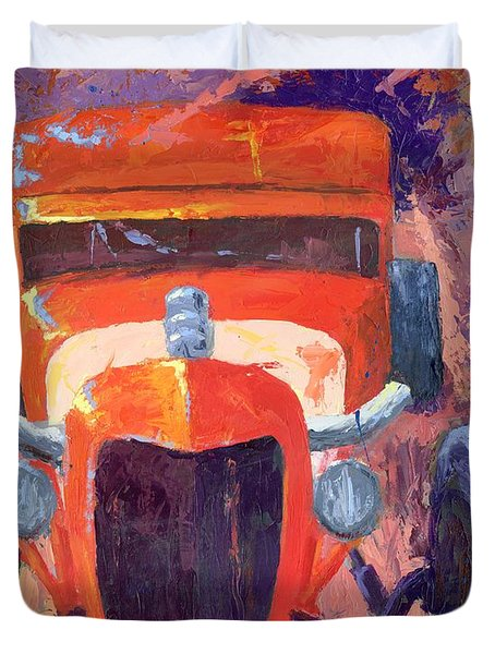 Red Hot Rod Sedan Duvet Cover