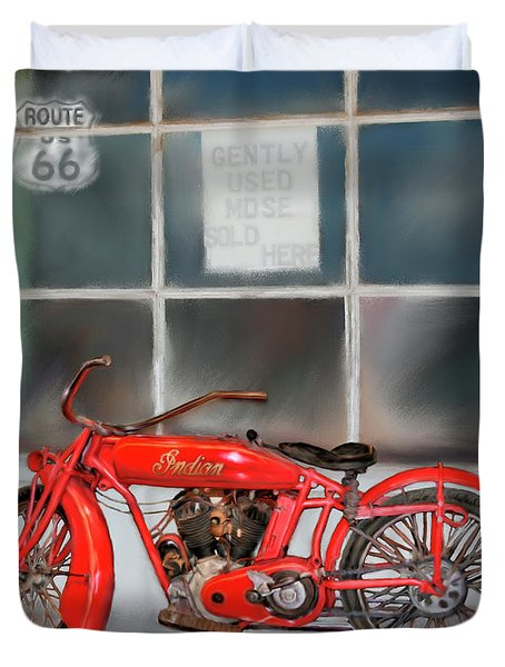 Red Hot Tail Gunner Duvet Cover by Colleen Taylor