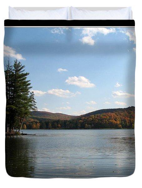 Red House Lake Allegany State Park Ny Duvet Cover