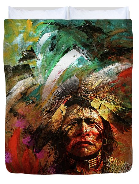 Red Indians 02 Duvet Cover