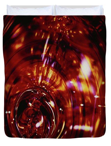 Red Inside Duvet Cover