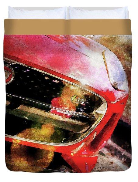 Red Jag Duvet Cover