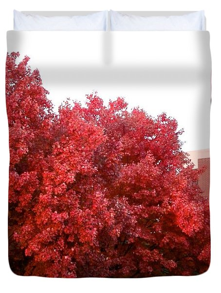 Red Duvet Cover by Joseph Yarbrough