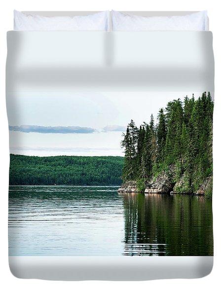 Red Lake Ontario Duvet Cover