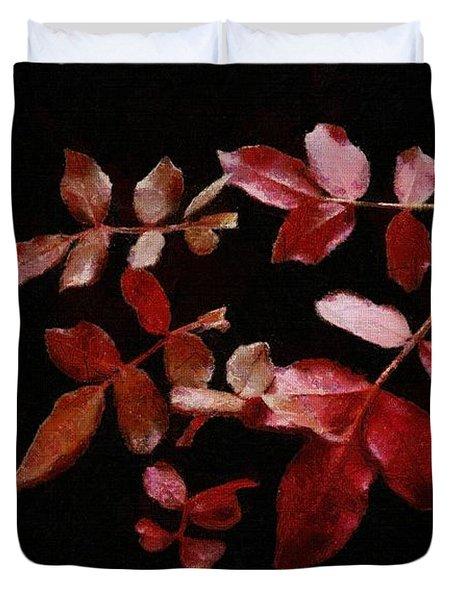 Red Leaves Duvet Cover by Jeff Kolker