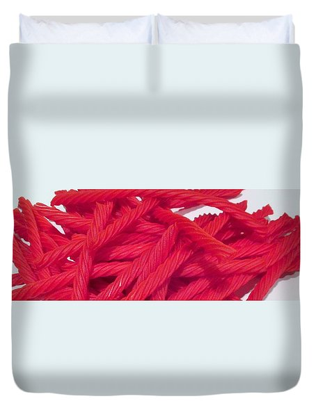 Red Licorice  Duvet Cover by Martin Cline