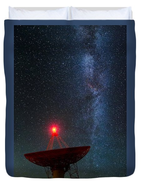 Duvet Cover featuring the photograph Red Light District by Sean Foster
