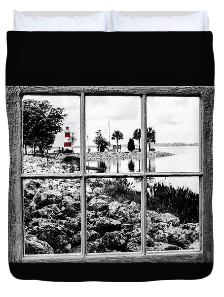 Red Lighthouse Duvet Cover