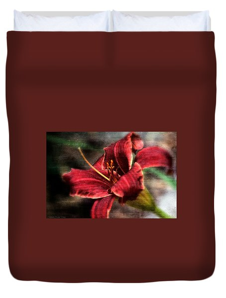 Red Lilly Duvet Cover